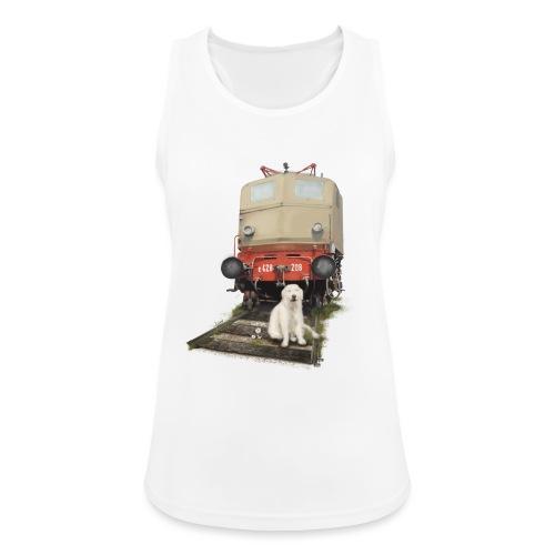 Golden Retriever with Train - Top da donna traspirante