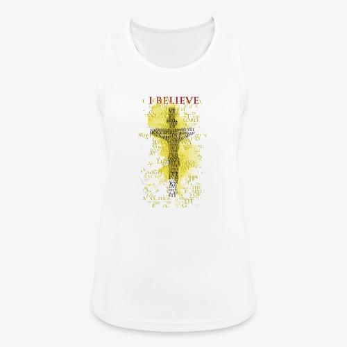 I believe / wierzę (yellow-żółty) - Tank top damski oddychający