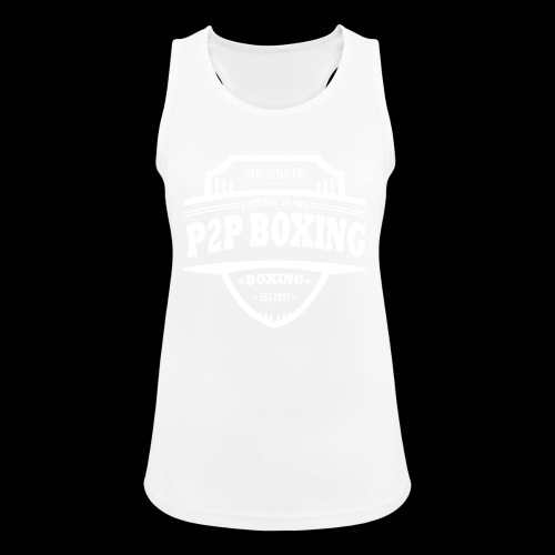 P2P Boxing White Logo - Women's Breathable Tank Top