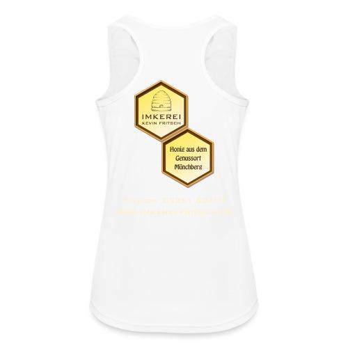 Shirt Imkerei Fritsch, 2 Waben hinten, vorne Logo - Frauen Tank Top atmungsaktiv