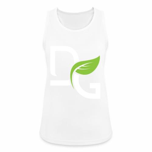 DrGreen Logo Symbol weiss grün - Frauen Tank Top atmungsaktiv