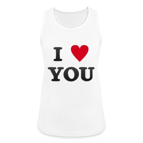 I love you - Pustende singlet for kvinner