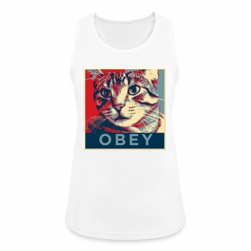 Obey the Cat! - Frauen Tank Top atmungsaktiv