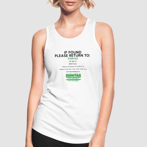 Dignitas - If found please return joke design - Women's Breathable Tank Top