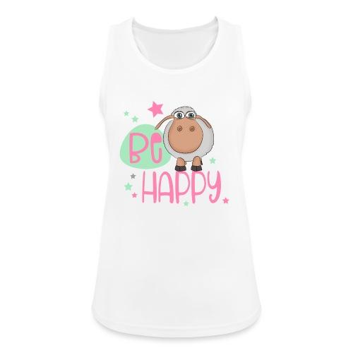 Be happy Schaf - Glückliches Schaf - Glücksschaf - Frauen Tank Top atmungsaktiv