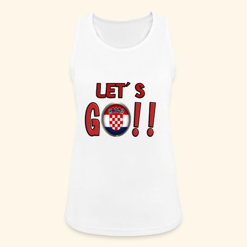 Go Croatia - Top da donna traspirante