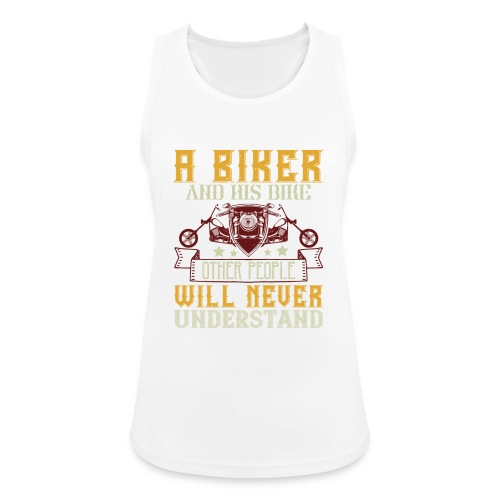 A biker and his bike. - Women's Breathable Tank Top