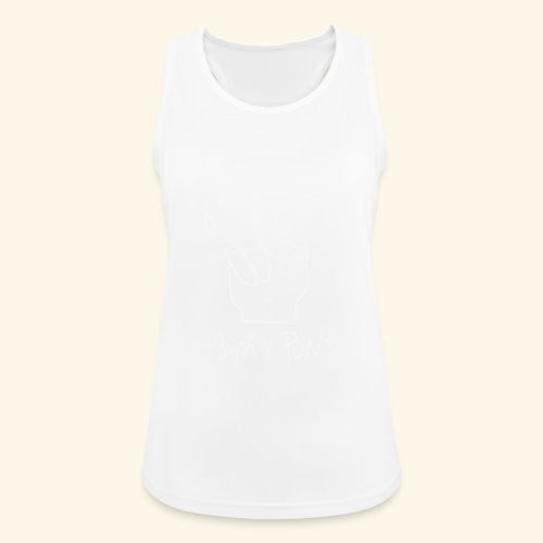 Amor y Punk White - Camiseta de tirantes transpirable mujer