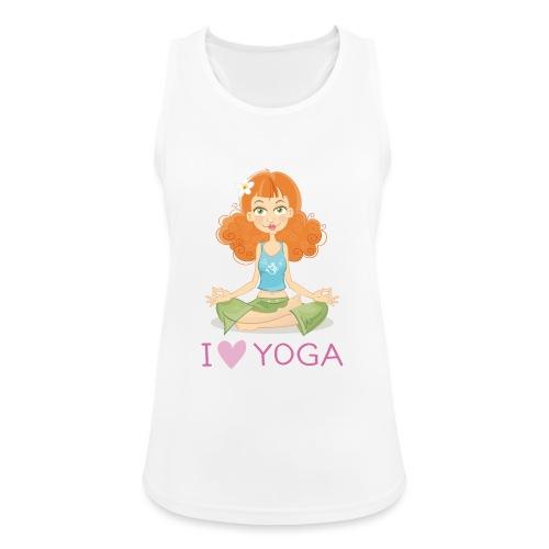 Yoga Lotus Pose Cartoon Girl - Frauen Tank Top atmungsaktiv