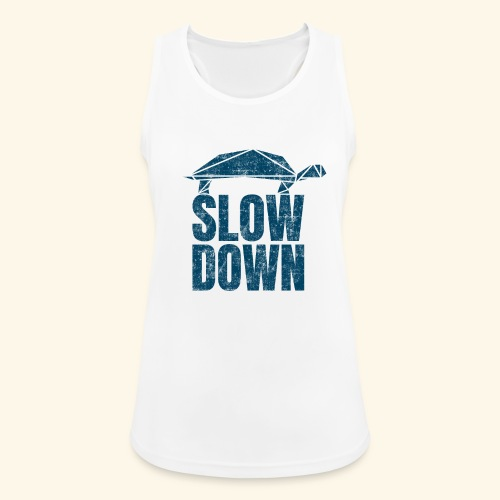 Slow Down witzige coole Schildkröte Keep Calm kein - Frauen Tank Top atmungsaktiv