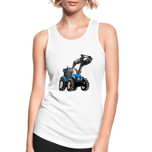 Blauer Traktor mit Frontlader - Frauen Tank Top atmungsaktiv