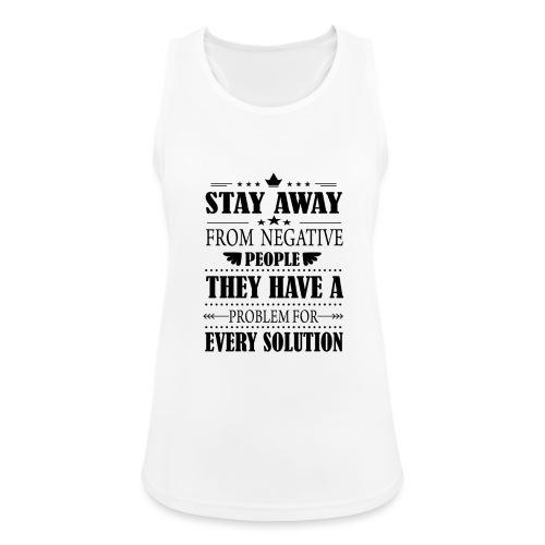 Stay away - Naisten tekninen tankkitoppi