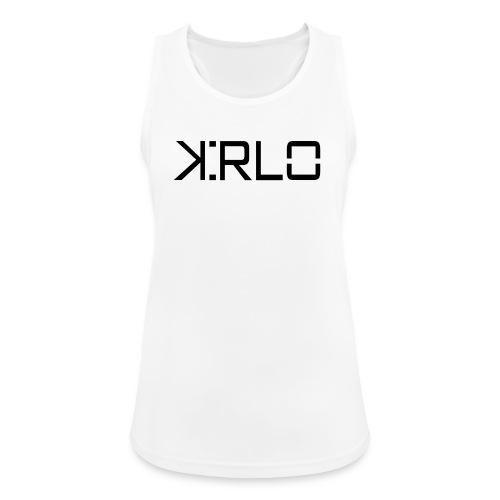 Kirlo Logotipo Negro - Camiseta de tirantes transpirable mujer