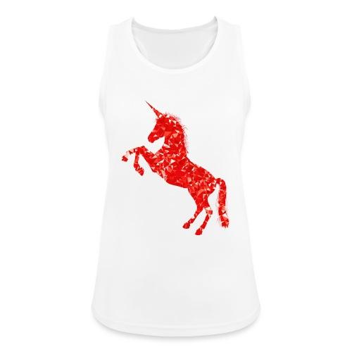 unicorn red - Tank top damski oddychający