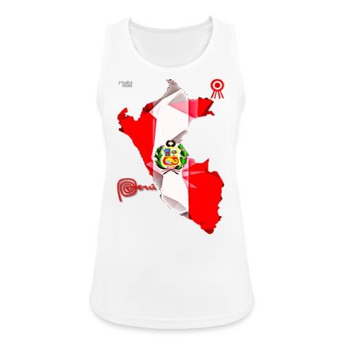 Mapa del Peru, Bandera y Escarapela - Débardeur respirant Femme