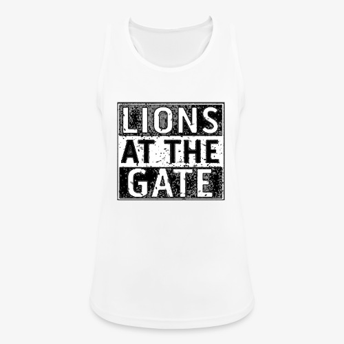 LIONS AT THE GATE BAND LOGO - Vrouwen tanktop ademend actief