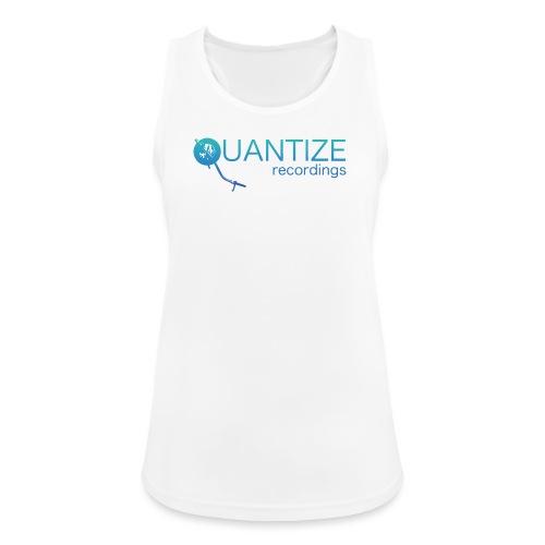 Quantize Gradient Teal/Turquoise Blue Logo - Women's Breathable Tank Top