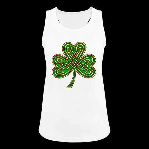 Celtic Knotwork Shamrock - Women's Breathable Tank Top