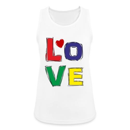 LOVE - Frauen Tank Top atmungsaktiv