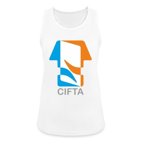 Logo CIFTA final letra gris50 - Camiseta de tirantes transpirable mujer