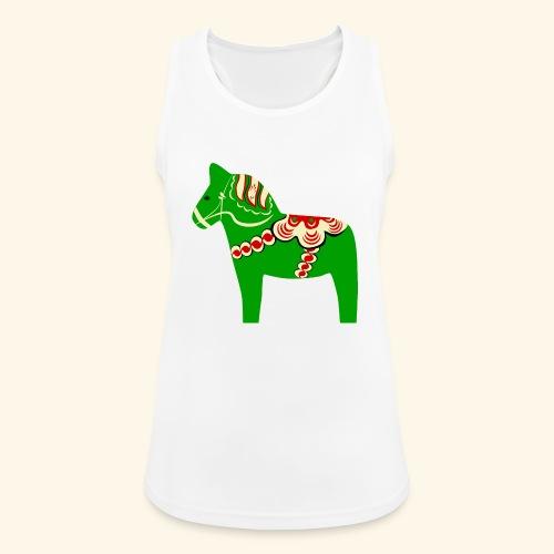 Grön dalahäst - Andningsaktiv tanktopp dam