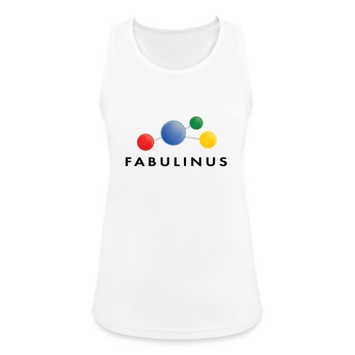 Fabulinus logo enkelzijdig - Vrouwen tanktop ademend actief