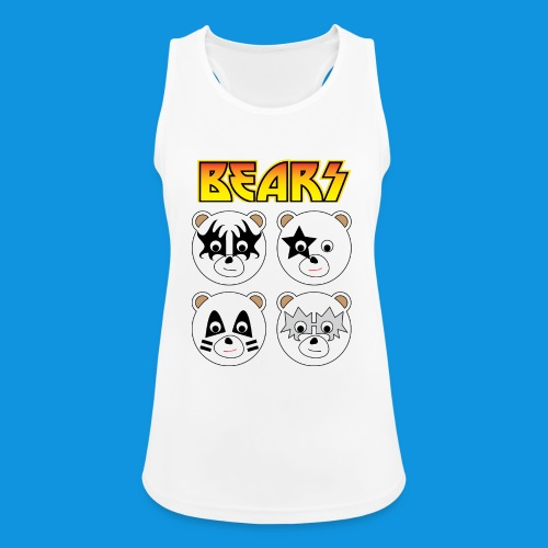 Kiss Bears square.png - Women's Breathable Tank Top