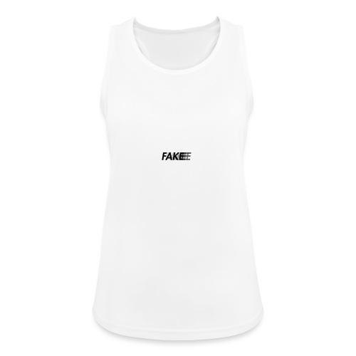 fake logo corruped - Top da donna traspirante