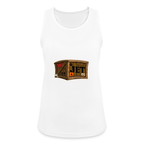 Jet Cartoon Wood Box - Frauen Tank Top atmungsaktiv