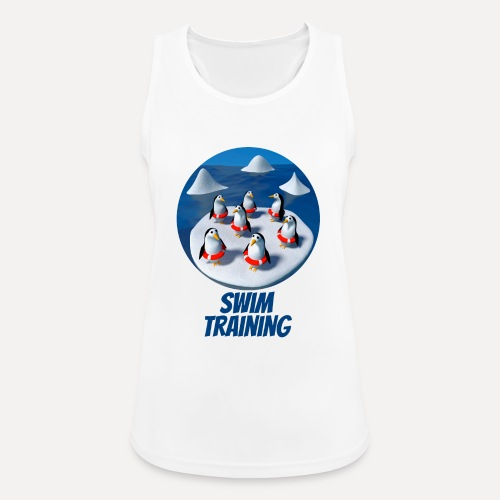 Pinguine beim Schwimmunterricht - Women's Breathable Tank Top
