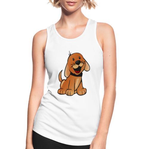 cartoon dog - Top da donna traspirante