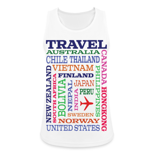 Travel Places design - Naisten tekninen tankkitoppi