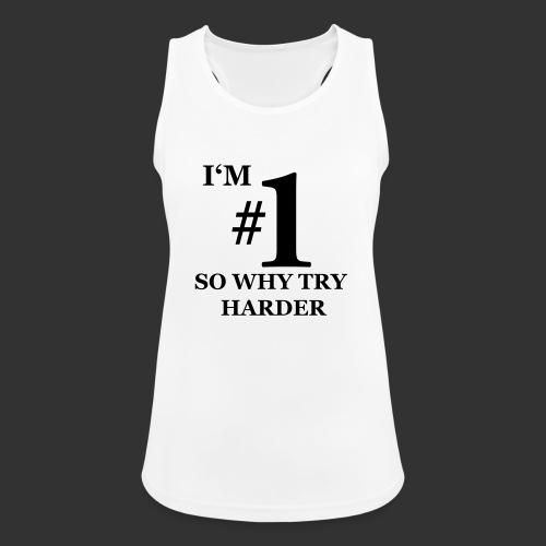 T-shirt, I'm #1 - Andningsaktiv tanktopp dam
