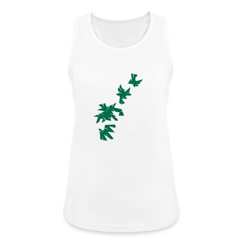 Green Leaves - Frauen Tank Top atmungsaktiv