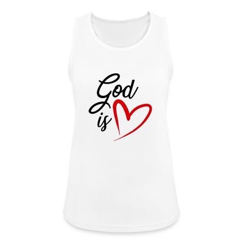 God is love 2N - Top da donna traspirante