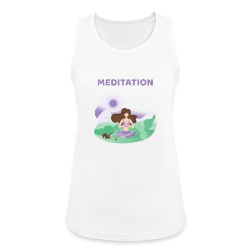 Yoga Meditation - Top da donna traspirante