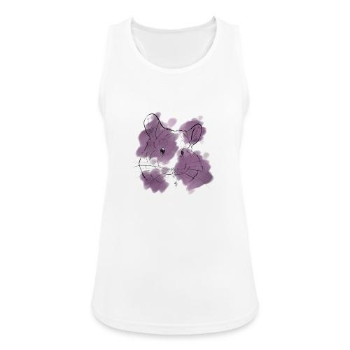Violet splash chinchilla - Naisten tekninen tankkitoppi
