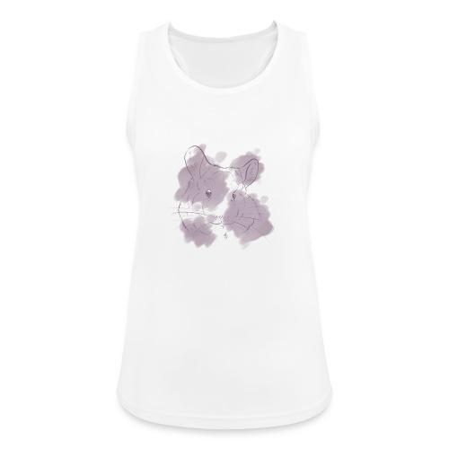 Violet splash chinchilla 2 - Naisten tekninen tankkitoppi