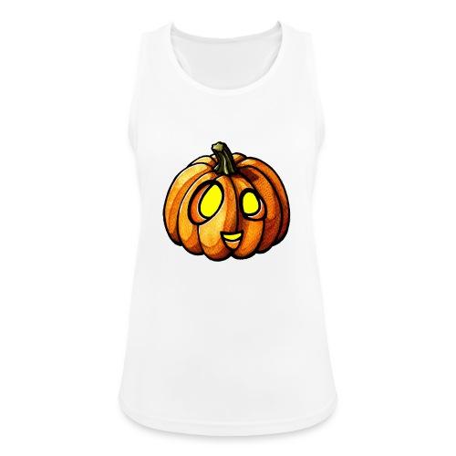 Pumpkin Halloween watercolor scribblesirii - Frauen Tank Top atmungsaktiv