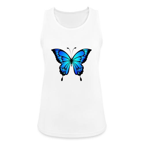 Mariposa - Camiseta de tirantes transpirable mujer