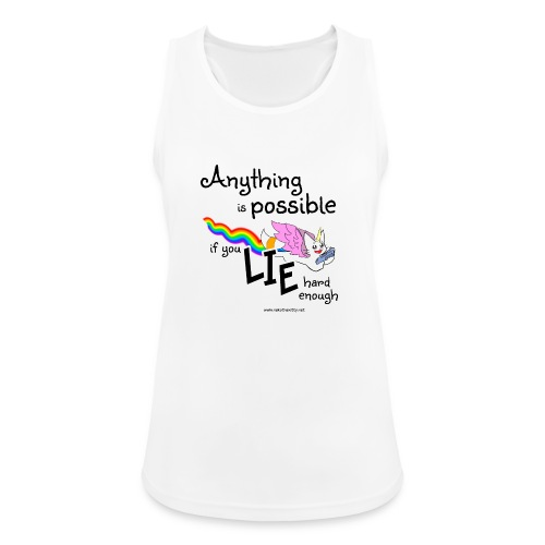 Anything Is Possible if you lie hard enough - Women's Breathable Tank Top