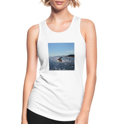 Mer avec roches - Débardeur respirant Femme