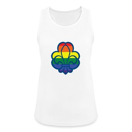 Regnbuespejder hvide t-shirts - Dame tanktop åndbar