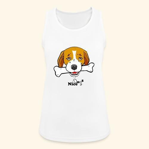 Nice Dogs Semolino - Top da donna traspirante