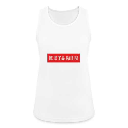 KETAMIN Rock Star - Weiß/Rot - Modern - Women's Breathable Tank Top