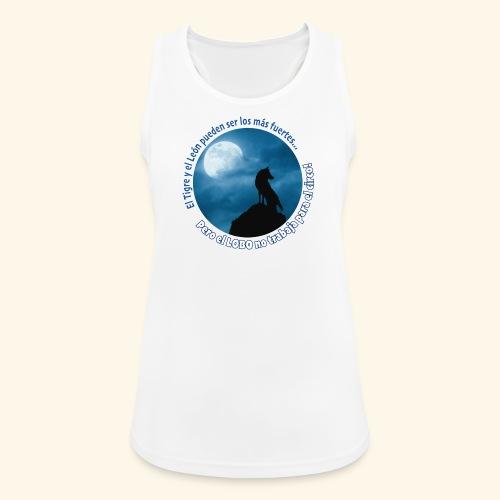 LOBO - Camiseta de tirantes transpirable mujer