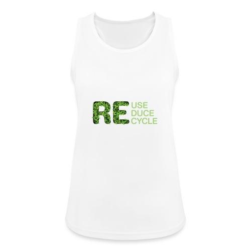 REuse REduce REcycle - Top da donna traspirante