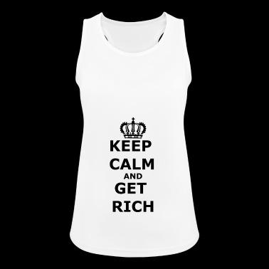 rijk: Houd kalm en rijk - Vrouwen tanktop ademend