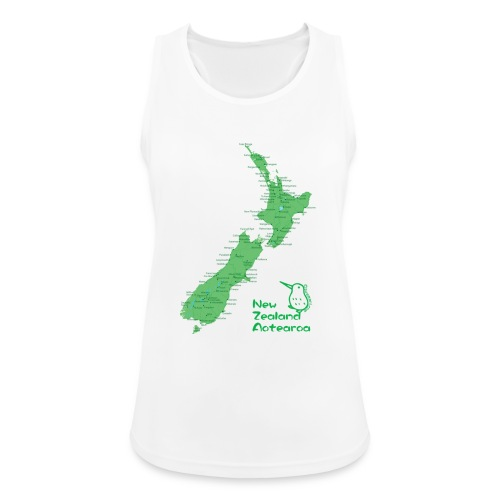 New Zealand's Map - Women's Breathable Tank Top
