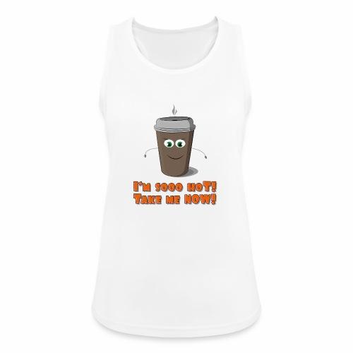 Coffee to go - Tank top damski oddychający